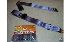 Universal Non Retractable 2 Point Plum Purple Lap Seat Belts Pair Street Rod