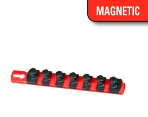 Ernst 8411m 8 Long 3 8 Dr Magnetic Socket Organizer Rail Red