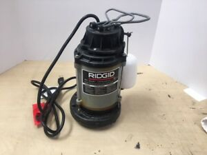 Ridgid 1 2 Hp Cast Iron Submersible Sump Pump Water Resistant Power Cord Durable