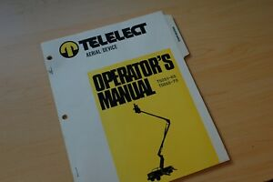 Telelect T5051 T5055 Boom Bucket Truck Lift Owner Operator Operation Manual Book
