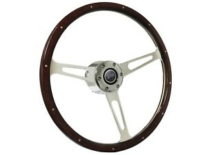 1968 1973 Mercury Cougar S6 Classic Espresso Wood Steering Wheel Kit
