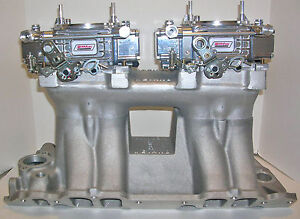 Quick Fuel 450 Cfm 2x4 Dual Quad Tunnel Ram Carburetors Vacuum Customized Free