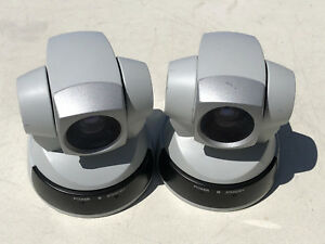 Lot Of 2 Sony Evi d100c Ptz Visca Color Video Cameras