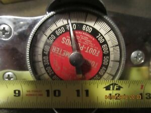 Snap on Tools Torque Meter 0 800 Foot pounds