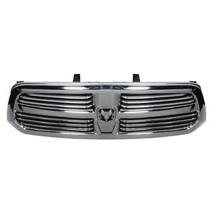 13 18 Dodge Ram 1500 Chrome Grille With Rams Head Emblem Oe New Mopar 68094301ac