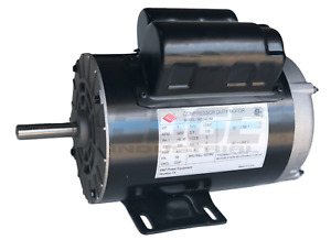 3 Hp 3450 Rpm Electric Motor Compressor Duty 56 Frame 1 Phase 5 8 Shaft 230v
