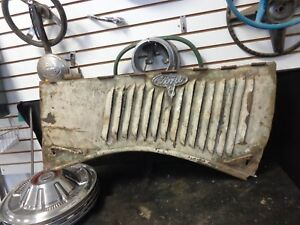 1935 Ford Pickup Truck Hood Side Left Hand W V8 Emblem Original 35 Rat Style