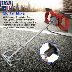 1500w Handheld 6 speed Electric Mixer For Stirring Mortar Paint Cement Ac 110v