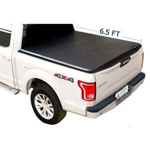 Tri fold 6 5 Truck Bed Cover Fits For Ford F 150 2015 2018 Styleside Trucks Bed