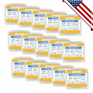 15pack Dental Rotary Universal Engine Root Canal Niti Files Sx f3 25mm 10 1 Ie y