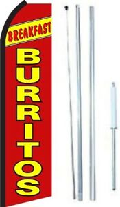 Breakfast Burritos Swooper Flag With Complete Hybrid Pole Set