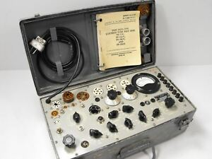 Supreme Tv 7 u Military Test Set Tube Tester In Working Condition Sn 1933