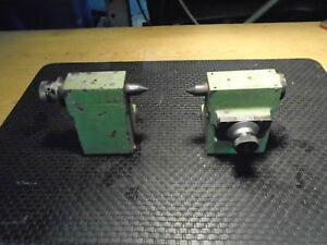 Set Of 2pcs Centers For Tool Cutter Grinder