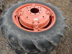 Allis Chalmers Wd Wd45 Farm Tractor 12 4 X 28 Rear Tires Wheels decent
