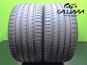 2 High Tread Yokohama Tires 295 35 21 Advan Sport V105 107y Oem Porsche 46168