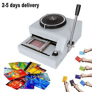 72 Letter Manual Embosser Machine Pvc Card Id Vip Stamping Embossing Machine