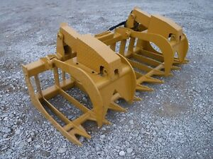 Cat Skid Steer Attachment 84 Severe Duty Root Grapple Bucket Ship 199