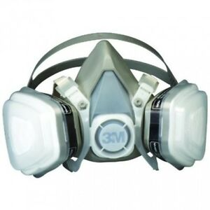 3m Safety Mask Half Face Vapor Organic Respirator Dual Cartridge Assembly Gas