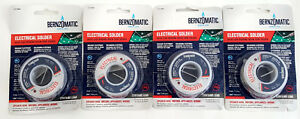 X4 Bernzomatic Lrc464 4 Oz 60 40 Lead Bearing Rosin Core Solder