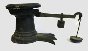 Scarce Large Antique Cast Iron Brass Crow Foot Howe Scale 4lb Weighs 24lb