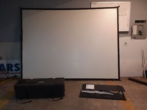 Da lite 7 6 x10 Fast Fold Hanging Portable Projection Screen System W Case