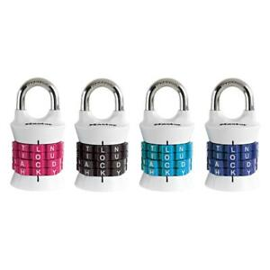 Master Lock Personalized Letter Combination Padlock 1535dwd Pack Of 6