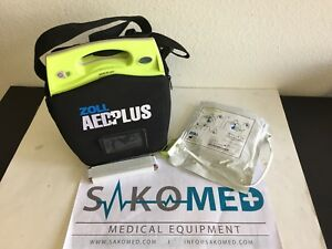 Zoll Aed Plus Defibrillator New Battery And New Adult Cpr D pad And Carry Case