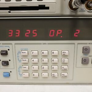 Hp 3325b Synthesizer function Generator 001hz 21mhz Opt 002 high Voltage