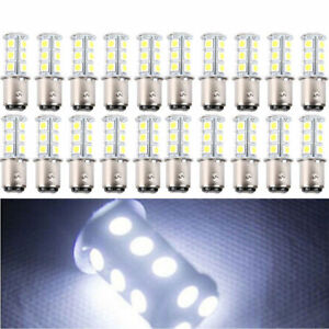 New 20 X Super White T25 S25 1157 18 Smd 5050 Led Tail Brake Stop Light Bulb Us