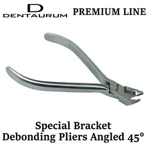 Dental Orthodontic Dentaurum Bracket Debonding Removing Pliers Angled 45