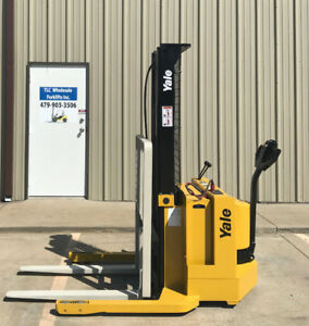 2000 Yale Walkie Stacker 12 Volt Straddle Walk Behind Forklift Only 1767 Hours