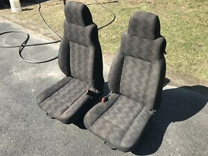 Oem 03 06 Jeep Wrangler 2 Tj Front Bucket Seats With Seat Rails No Shipping