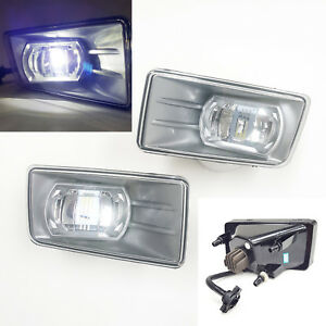 Built in Led Clear Lens Fog Lights For 2007 2014 Chevy Silverado Tahoe Suburban