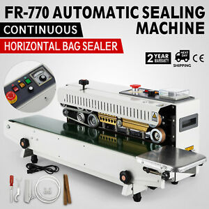 Fr 770 Continuous Band Sealer Horizontal Bag Sealing Machine Latest Plastic Food