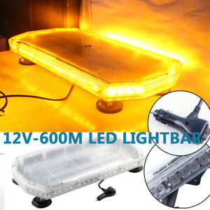 56 Led Emergency Beacon Warning Tow Truck Strobe Light Bar Amber Us 12 24v