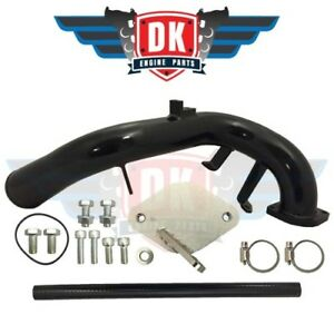 Black Lbz Egr Delete Kit Gm Duramax 6 6l Lbz 2006 2007 5 High Flow Intake