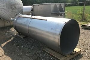 Skinny Vertical 500 525 Gallon Stainless Steel Cone Bottom Open Top Tank