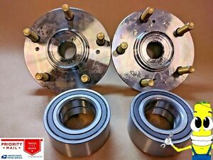 Premium Front Wheel Hub Bearing Assembly Kit For Honda Crv 1997 2001 Set 2