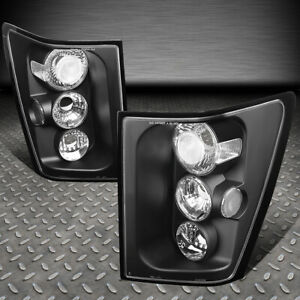For 05 06 Jeep Grand Cherokee Black Housing Tail Light Rear Brake parking Lamps