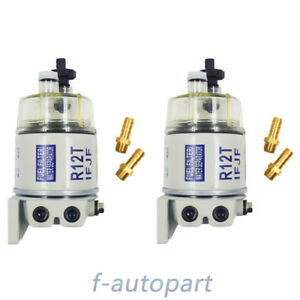 Diesel Marine Spin on Fuel Filter Water Separator R12t 120at 2pcs