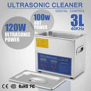 3l Liter 120w Stainless Steel Industry Heated Ultrasonic Cleaner Heater