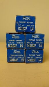 Lot Of 5 Martin 14xl037 1 4 Bore Timing Pulley