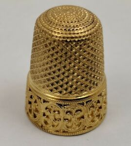 Vintage Antique 18k Yellow Gold Sewing Thimble