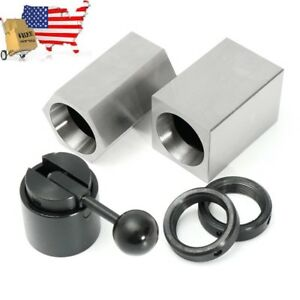 New 5c Collet Block Chuck Set Square Hex Collecy Closer Holder Lathe Usa Stock