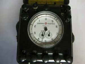 Vintage General Electric Type 1b 10 Portable Watthour Meter Standard Test Unit