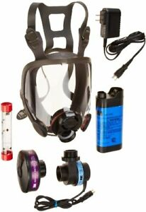 3m Powerflow Face mounted Powered Air Purifying Respirator papr 6800pf Nicd