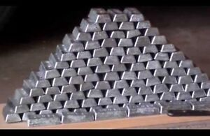 35 pounds of one pound Pure lead ingots for bullet casting or fishing weights