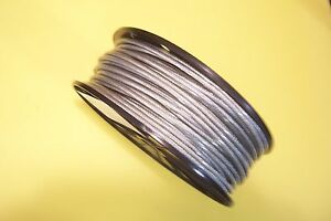 Vinyl Coated Stainless Steel Wire Rope Cable 3 16 1 4 7x19 50 Ft Coil