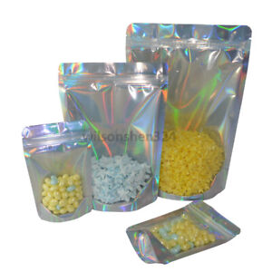 Laser Stand Up Zip Lock Bags Food Storage Cosmetic Bag Reusable Food Pouches