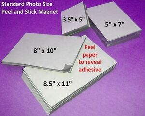 25 Self Adhesive Flexible Magnetic Sheets 8 5x11 Inch Usa Made Free Shipping